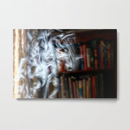painting with Smoke - Dancing Horse Metal Print