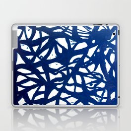 Blue Squiggles Laptop & iPad Skin