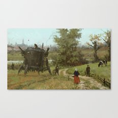 1920 - breakfast is coming Canvas Print