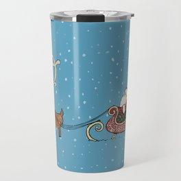 Rudolph and Santa Travel Mug