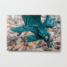 Green Dragon2 Metal Print