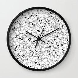 Chess Pattern WHITE Wall Clock