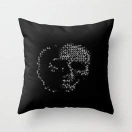 Triangular Skull Throw Pillow