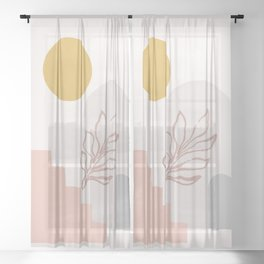 Abstract home Sheer Curtain