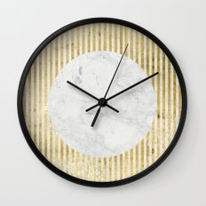 inverse gOld sun Wall Clock