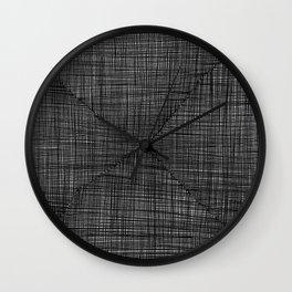 Ink Weaves: Slate Wall Clock