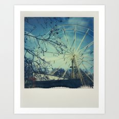 Abandoned Amusement Park 02 Art Print