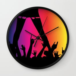 Entertainer With Audience Wall Clock
