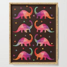Geometric Dinosaurs Serving Tray
