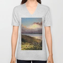 Frederic Edwin Church - View Of Cotopaxi - Digital Remastered Edition Unisex V-Neck
