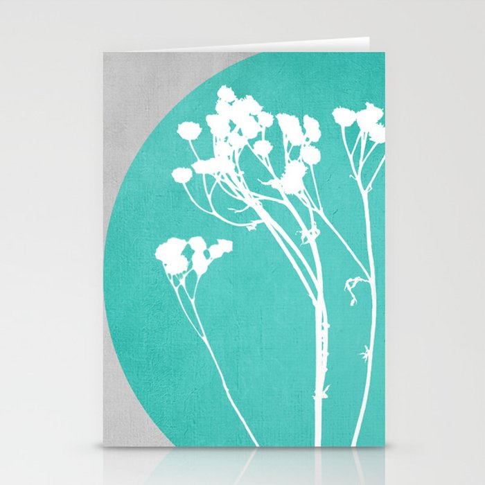 Abstract Flowers 1 Stationery Cards