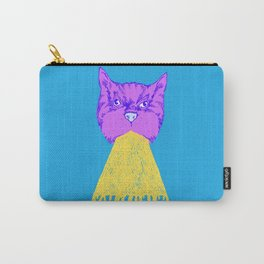 Cat Vomit - Purple Poot + Blue Background Carry-All Pouch