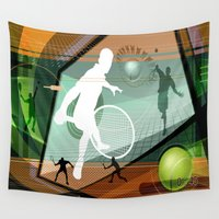tennis Wall Tapestries featuring Tennis by Robin Curtiss