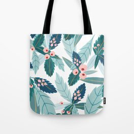 Blue Florals Tote Bag