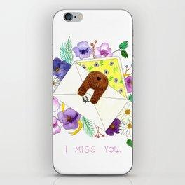 I Miss You. iPhone Skin