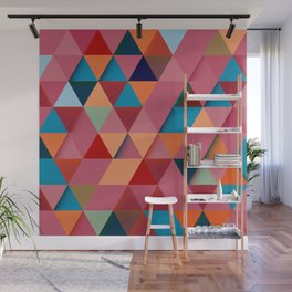Colorfull abstract darker triangle pattern Wall Mural