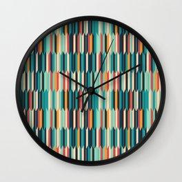 Colorful seigaiha Japanese geometric pattern Wall Clock