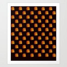 Pattern O' Pumpkins Art Print