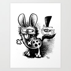 The Hyena and the Spider #1 Art Print