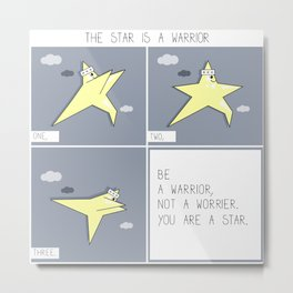 The star is a warrior comic strip drawing Metal Print