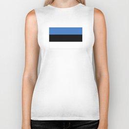 Flag of Estonia - Estonian,Eest,Baltic,Finnic,Sami, Skype,Arvo Part,Tallinn,Tartu, Narva,Snow, Cold Biker Tank
