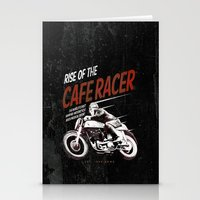 cafe racer Stationery Cards featuring Rise of the Cafe Racer II by RiseoftheCafeRacer
