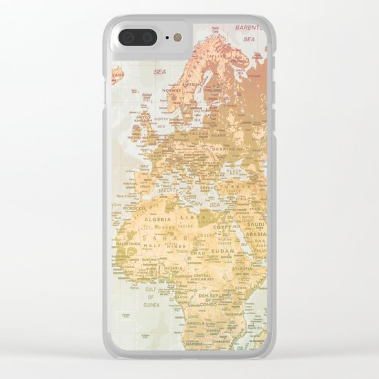 Pastel World Clear iPhone Case