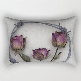 Three dried Roses II Rectangular Pillow