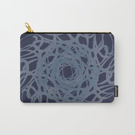 Navy Swirls Carry-All Pouch