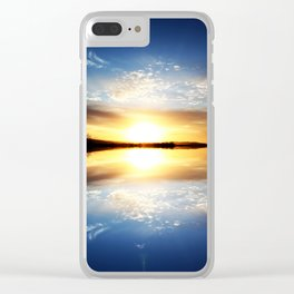 Reflecting Sunset - 11 Clear iPhone Case