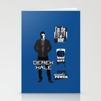 derek hale Stationery Cards featuring Derek Hale Quotes Teen Wolf by Alice Wieckowska