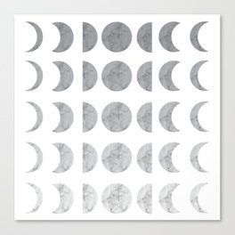 Marble Gradient Moon Phases Canvas Print