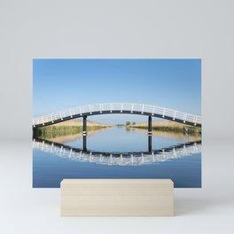 Blue and Green Symmetry - landscape photography Mini Art Print