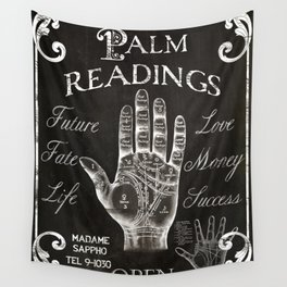 Vintage Palmistry Sign Wall Tapestry