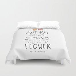 Autumn Flowers Duvet Cover