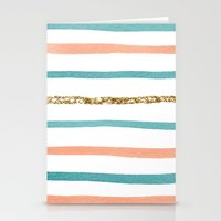 sparkle Stationery Cards featuring Sparkle Stripe by Social Proper