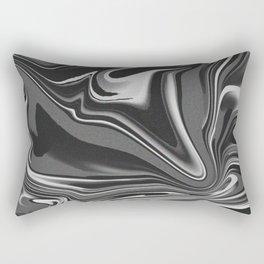 noisy black and white glitch Rectangular Pillow