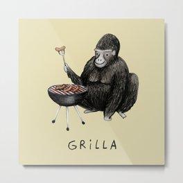 Grilla Metal Print
