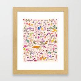 SHROOMS! Framed Art Print