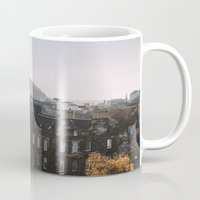 edinburgh Mugs featuring Edinburgh, Scotland by norakathleen