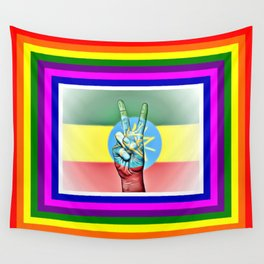 Ethiopia World Peace Flag Wall Tapestry