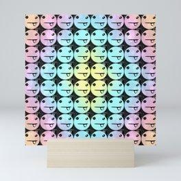 Rainbow Silly Faces Mini Art Print