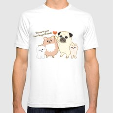 Treasure your four-legged friends White Mens Fitted Tee SMALL