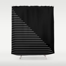 Descent (Abstract, black and white minimalism) Shower Curtain