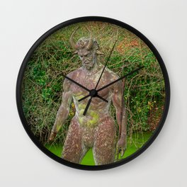 Jersey Satyr Statue Wall Clock
