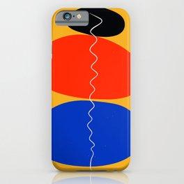 Zen minimal abstract art yellow blue red black iPhone Case