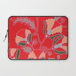 Suzani-inspired blooms on red Laptop Sleeve
