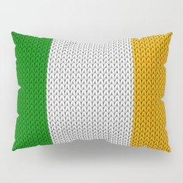 Flag of Ireland - knitted Pillow Sham