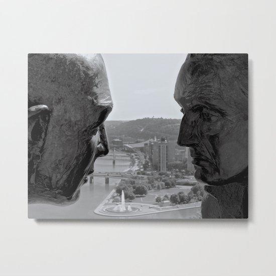 Washington & Guyasuta Metal Print