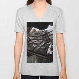 Box Canyon Falls - View from the Bottom of the Crevasse Unisex V-Neck
